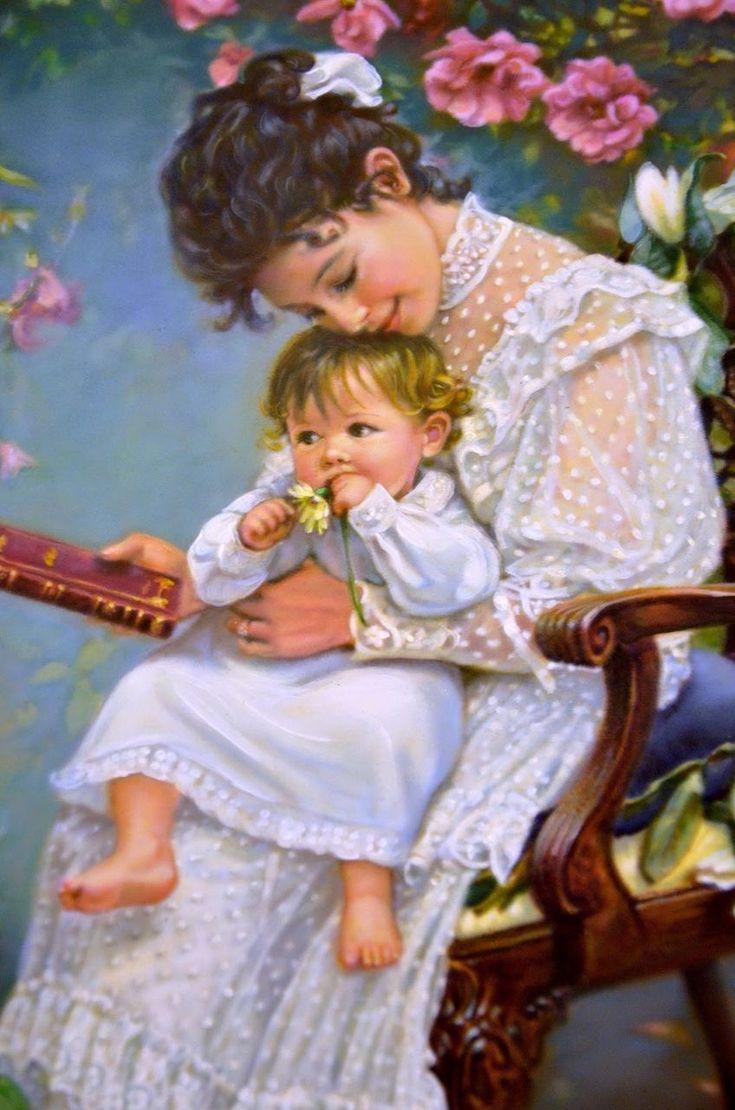Открытки с детьми и мамами