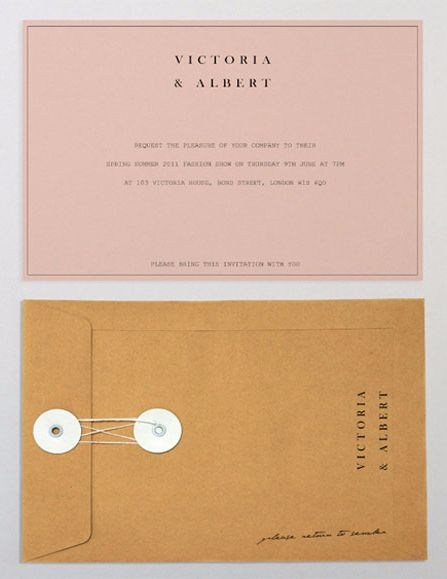 pastel paper invitation with a romantic manila envelope - vintage wedding invitation design inspiration, fashion week invitation ideas