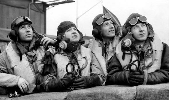 Pilots of No 310 Squadron RAF pose for an AM photographer upon their formation at RAF Duxford on 10 July 1940. They were the first RAF Fighter Command squadron to be raised and crewed by foreign nationals. Led by S/L George DM Blackwood and using experienced Czechoslovak pilots, the unit was operational in only a month and as part of No 12 Group became involved in the Battle of Britain, claiming a total of 37½ victories.
