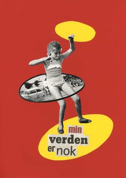 collage og cut up - plakat af Tanja Nellemann