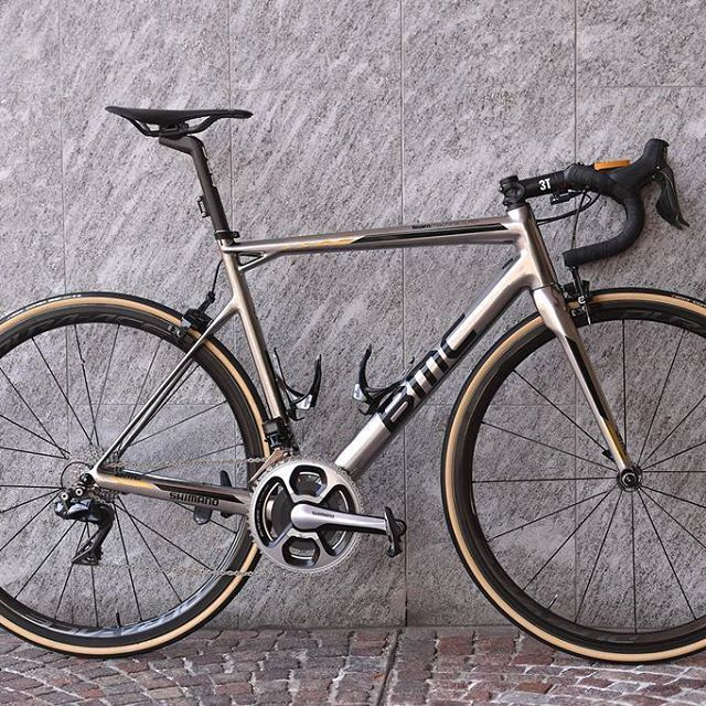 The bike BMC SLR01, that Greg Van Avermaet rode to E3 Harelbeke 2017victory.