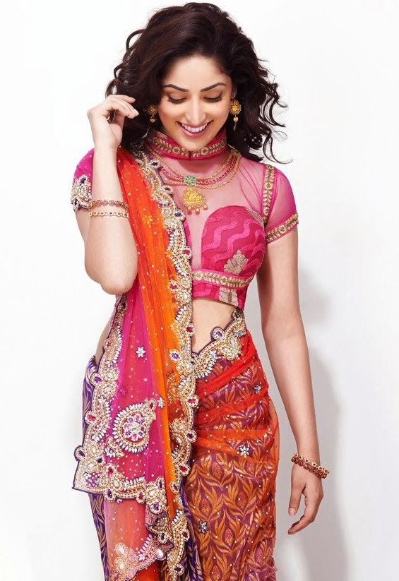 Yami Gautam's Stunning Saree Avatar http://blogonbollybabes.blogspot.in/2015/03/yami-gautam-stunning-saree-avatar.html #YamiGautam #Stunning #Saree #Bollywoodactress