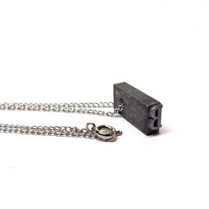 Letterpress Necklace B, $32, now featured on Fab.