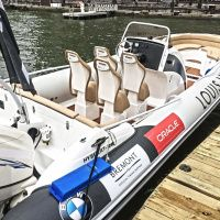 It is vital for the chase boats to be able to move quickly as the AC72 catamaran yachts have a 40 foot LOA and are capable of extreme speeds.