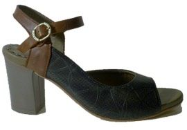 Sandal for women with heel, made in Italy by LiliMill