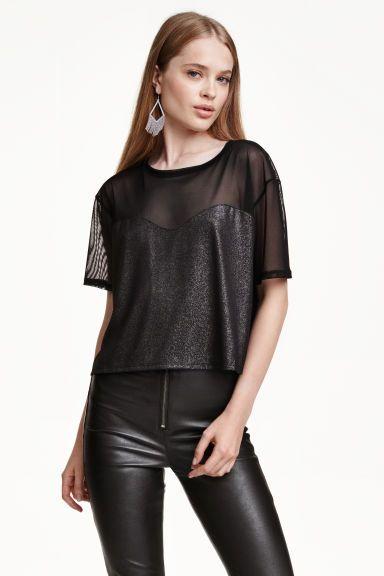 Bluză din plasă   H&M