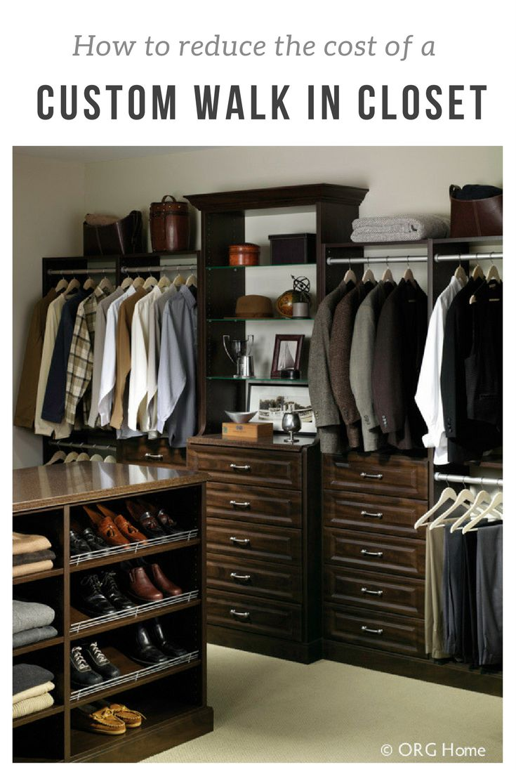 495 best innovative remodeling images on pinterest for Cost to build walk in closet