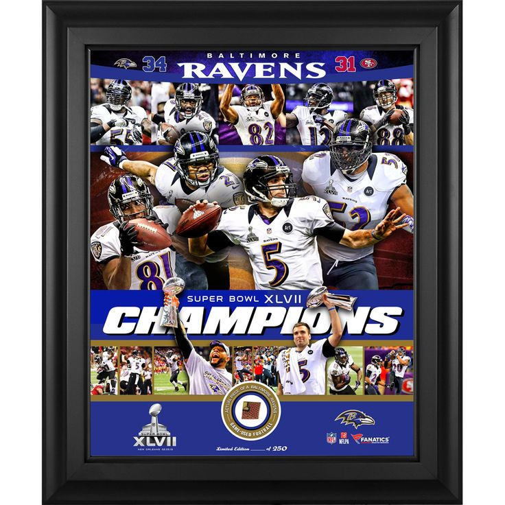 Baltimore Ravens Fanatics Authentic Framed Super Bowl XLVII 2nd Edition Collage with Piece of Game-Used Football-Limited Edition of 250 - $99.99
