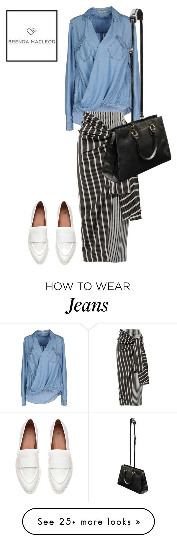"""loose"" by brendamacleod on Polyvore featuring Pepe Jeans London and Joseph"