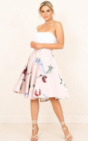 My Sweet Heart skirt in dusty pink floral