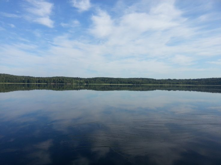 Quiet morning at lake 8:42 July 19th in Finland 2014