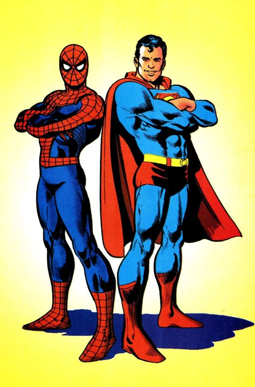 Superman & Spider-Man Art by Ross Andru & Dick Giordano