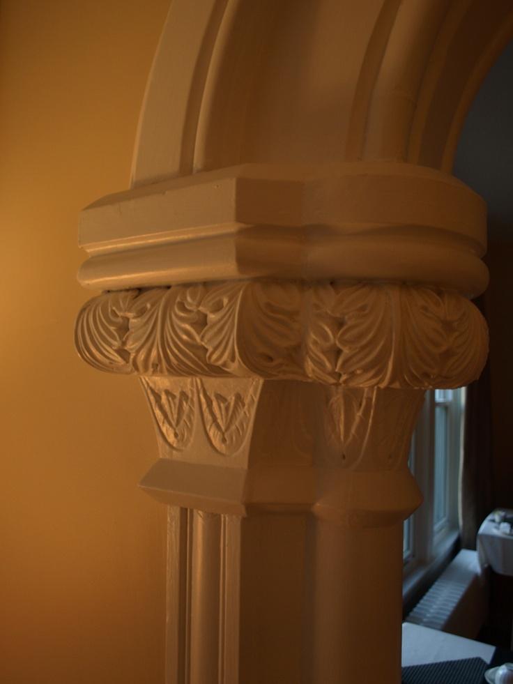 Column detail in the Living Room