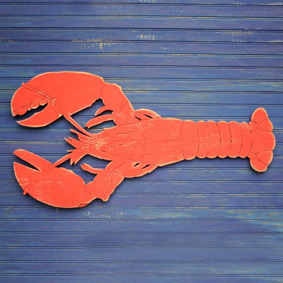 Big Lobster Sign Beach Coastal Sign Wooden by SlippinSouthern