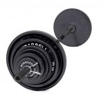 CAP Barbell OS-300#2 Olympic Barbell Set - 300 lb. Black