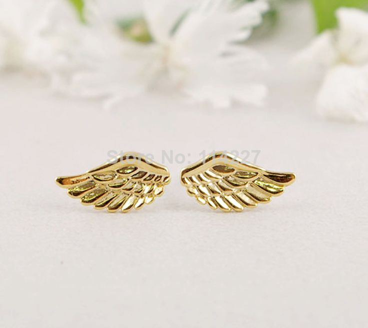 Find More Stud Earrings Information about Korean Fashion Boutique Wholesale Cheap Women Fashion Angel Wings Earrings ,High Quality fashion earrings wholesale,China earrings screw Suppliers, Cheap earring tag from Girl to Queen---- on Aliexpress.com
