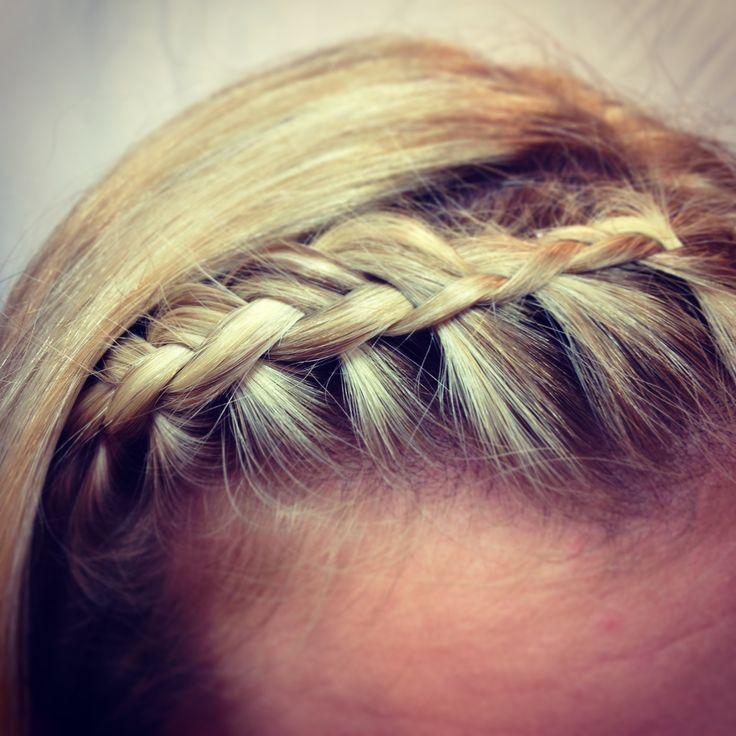 How to do a side braid or bang braid.  Ashley watch this one to see how this part of the sock bun updo is done.