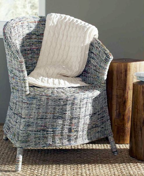 newspaper armchair