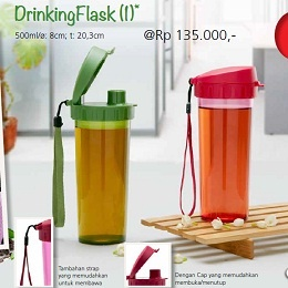 Drinking Flask - Tupperware Bogor | Katalog Tupperware Maret 2013 Nama Produk: Tupperware Drinking Flask Harga: Rp. 135,000,- Ukuran: 500ml/ø: 8cm; t: 20,3cm Deskripsi: *) Tersedia dalam 2 warna, tergantung ketersediaan di Distributorship *] Garansi tidak berlaku untuk Strap Limited Release