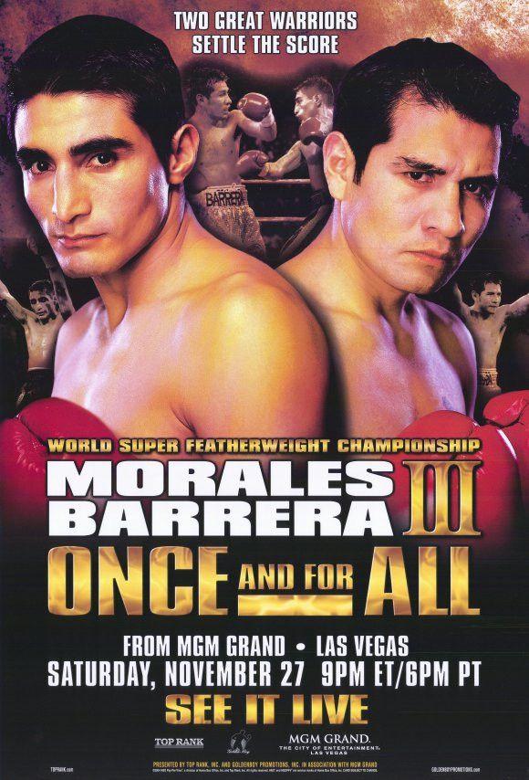 Erik Morales vs Marco Antonio Barrera 11x17 Boxing Promo Poster (2004)