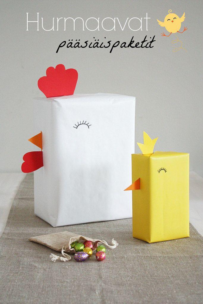 Gift wrapping ideas for Easter. / Pääsiäisaskartelu. Suloiset lahjapaketit.