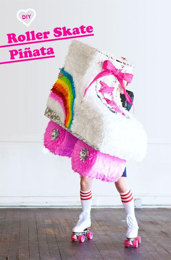 DIY del patín de ruedas Piñata | ¡Oh dia feliz!