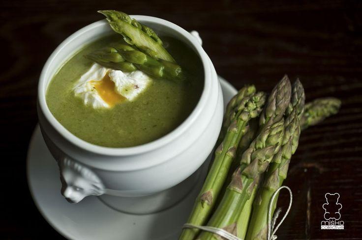 krem ze szparagów / cream of asparagus www.danielmisko.pl