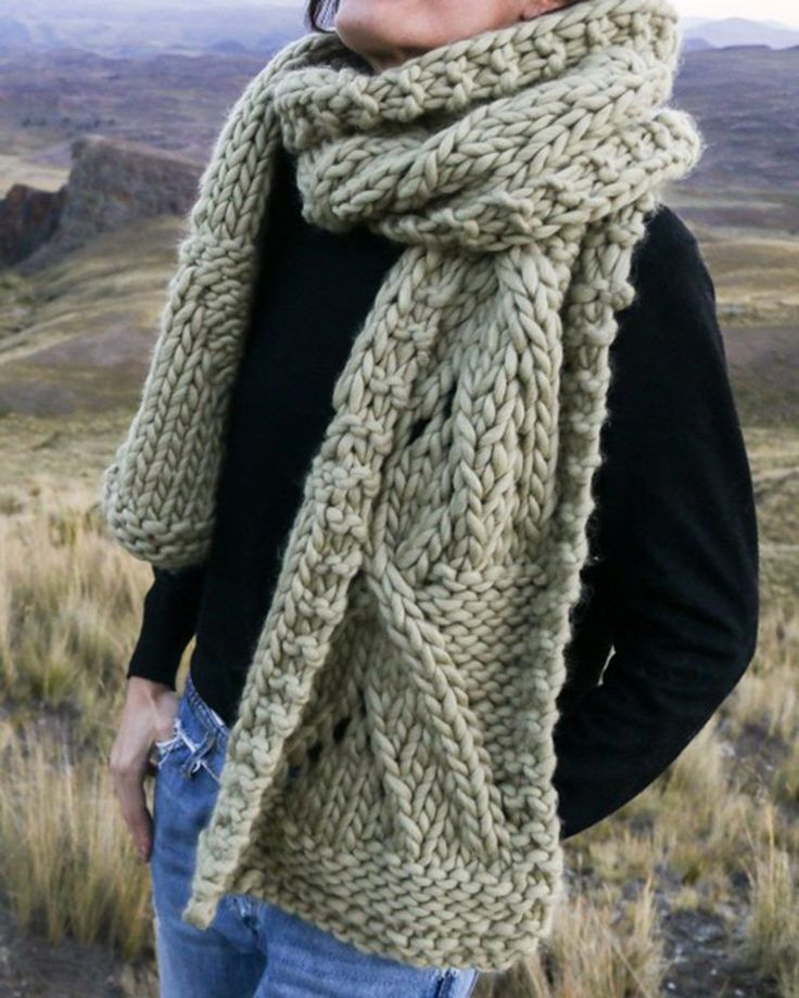Patron palm Scarf - We are Knitters