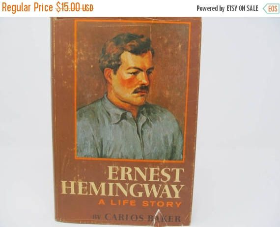CHRISTMASINJULY: Ernest Hemingway A Life Story by Carlos Baker -1969 by CellarDeals on Etsy