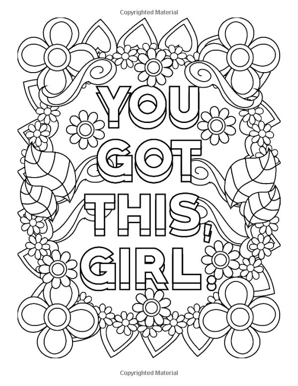 Amazon.com: Inspirational Coloring Books for Girls: You
