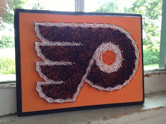 Philadelphia Flyers String Art by BlossomsNKnots on Etsy
