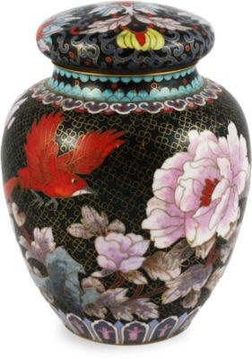 Beautiful Cloisonne' ginger jar with great colors!