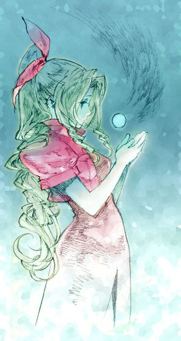 Final Fantasy VII Aerith:: lol I remember watching my bro play this, that's a cool pic  <3
