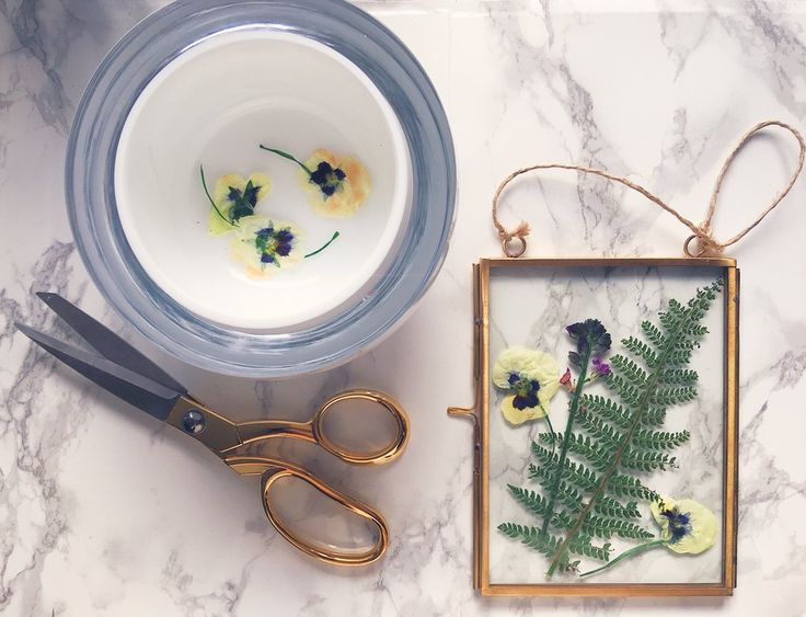 Make This Pretty Pressed Flower Art Quickly With An Iron — MELANIE LISSACK INTERIORS