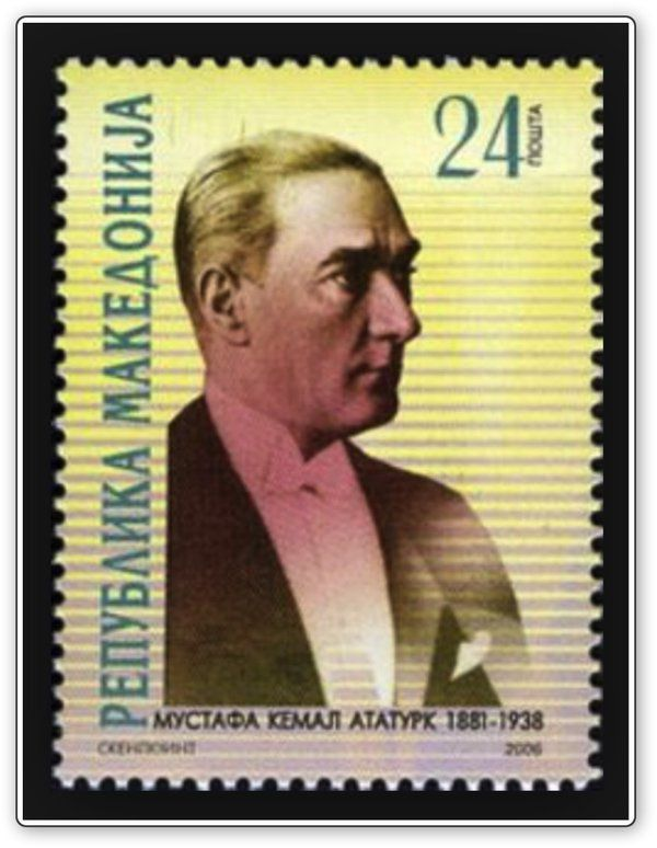 #stamps for #Atatürk from Macedonia where is Selonica, where he was born