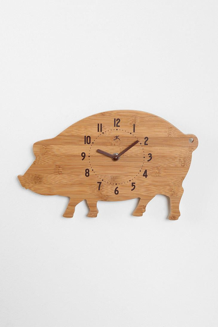 Pig Wall Clock For The Kitchen Love It