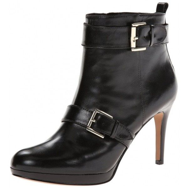 FSJ Fall and Winter Fashion London Street Style 2017 Winter Classic Dress Women's Black Buckle Platform Boots Fashion Almond Toe Ankle Boots forChristmas Party Outfit|TOP DESIGN BY FSJ