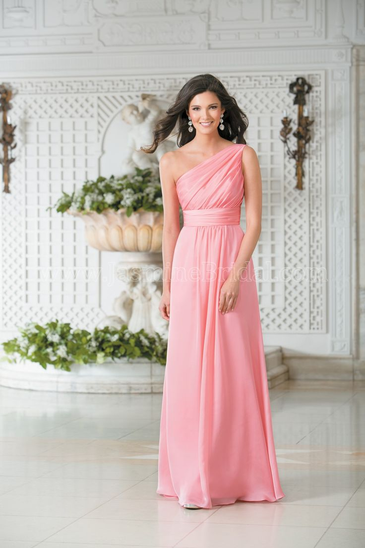 49 best spring 2015 bridesmaids images on pinterest jasmine bridal jasmine bridal bridesmaid dress belsoie style l174007 in coral a youthful versatile dress for ombrellifo Images