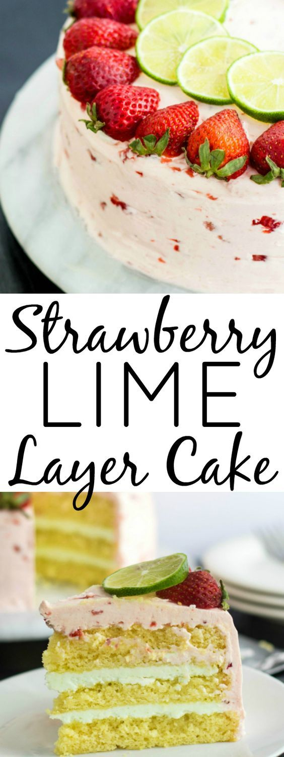 STRAWBERRY LIME CAKE   Cake And Food Recipe