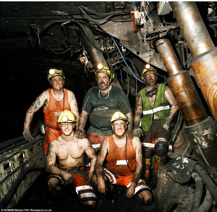File picture of miners at the coal face of Kellingley colliery which is set to close today, as workers endure their final shifts