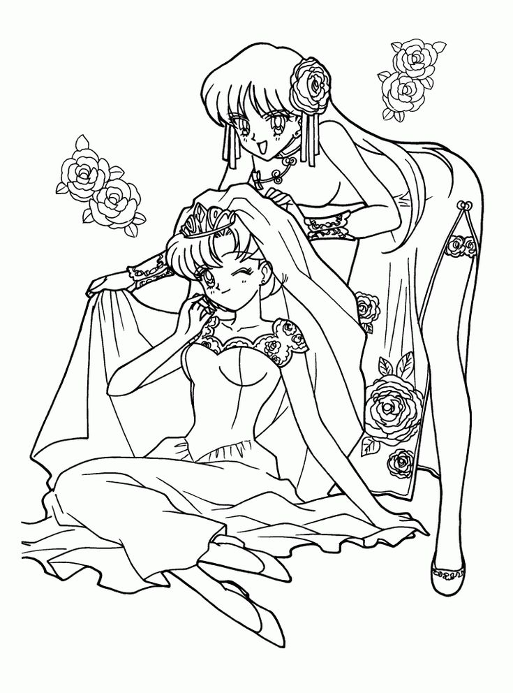 sailor moon coloring page pictures