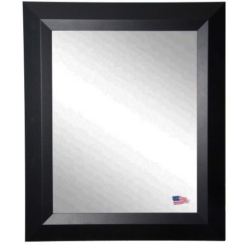 $158 Rayne Mirrors Contemporary Matte Black Wall Mirror