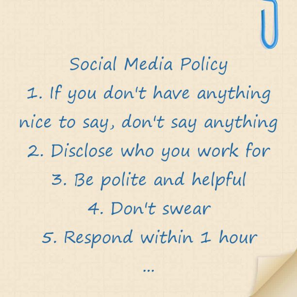Best Social Media Policies Images On   Social Media