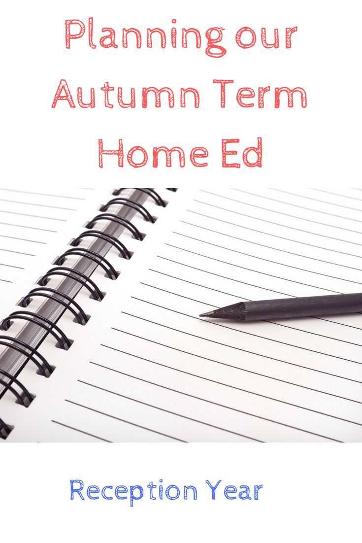 Home Education plans for the autumn term inludes maths and science ideas