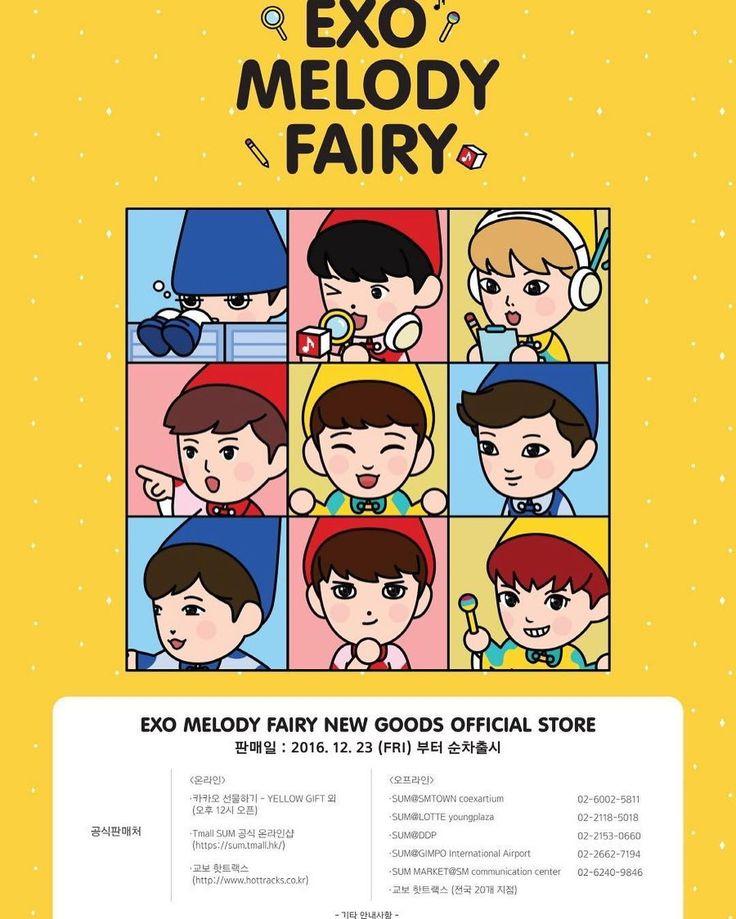 161222 EXO Website Notice Update: EXO Melody Fairy Goods • ✧ • ✧ • ♡♡♡♡♡♡♡♡♡♡♡♡♡♡ .  #엑소사랑해 ♥ #EXO #EXOK #EXOL #EXOM #WEAREONE #엑소 #suho #chanyeol #sehun #kyungsoo #kai #baekhyun #kris #lay #tao #luhan #chen #xiumin #WuYiFan [ FOREVER ONE,  FOREVER EXO12 ] «Admin_littleKyung» ♡♡♡♡♡♡♡♡♡♡♡♡♡♡