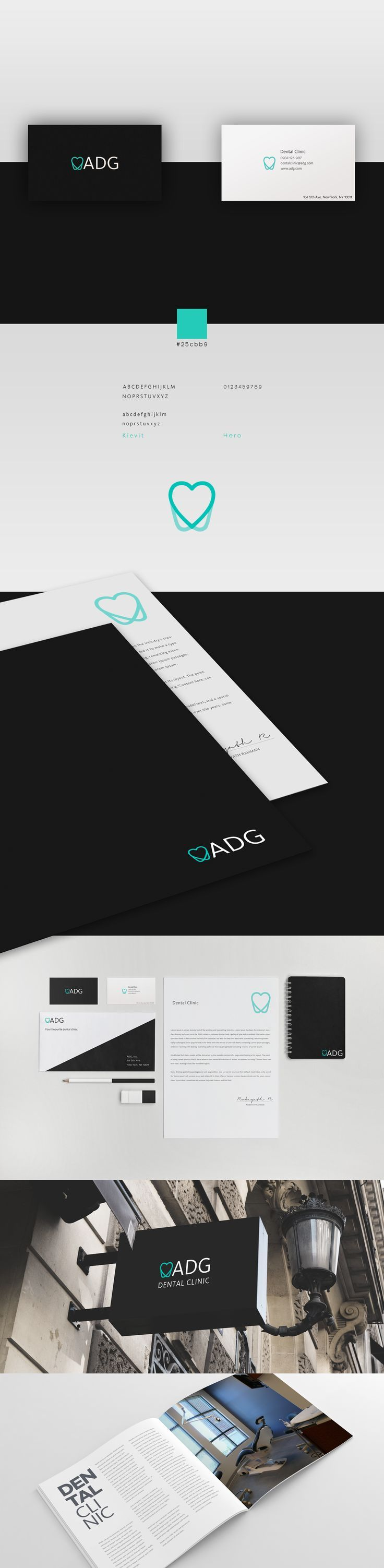ADG Dental Clinic branding.. If you like UX, design, or design thinking, check out theuxblog.com