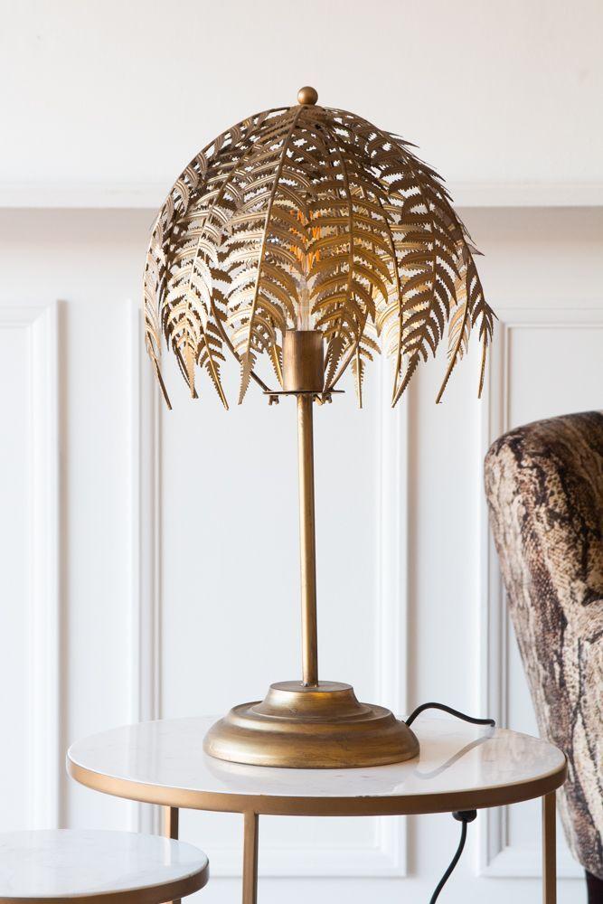 Fern Leaf Palm Tree Style Table Lamp Art Deco Table Lamps Table Lamp Design Unusual Table Lamps