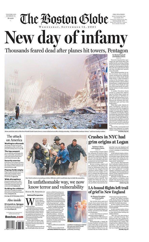 Looking Back: Newspaper Front Pages Covering 9/11