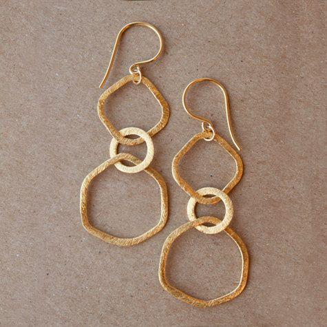 BRUSHED LINK Earrings | sarahmiller.co