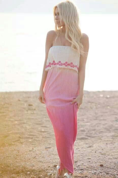 Beautiful maxi pink dress